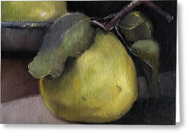 Pears Stilllife Painting Greeting Card
