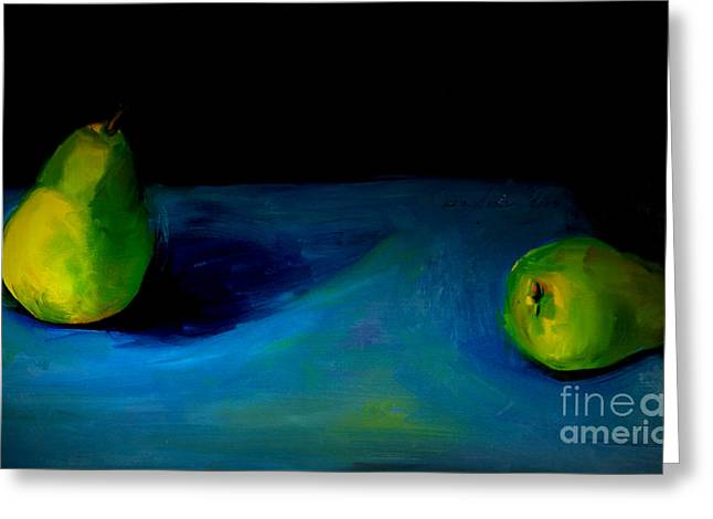 Pears Unpaired Greeting Card by Daun Soden-Greene