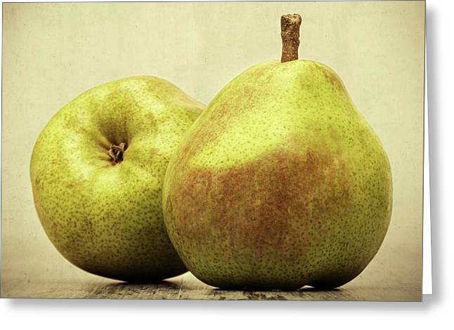 Pears Greeting Card by Wim Lanclus
