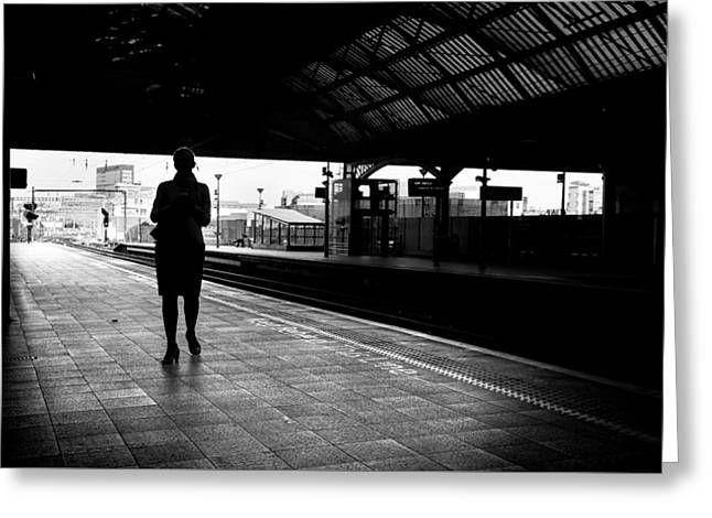 Pearse Station - Dublin, Ireland - Black And White Street Photography Greeting Card