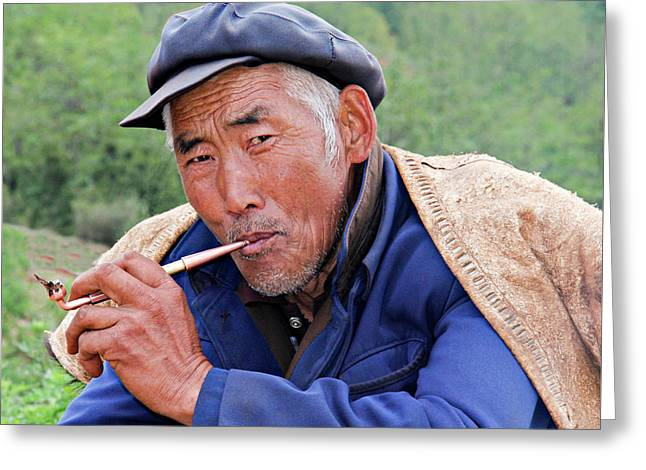 Peasant Farmer Greeting Card