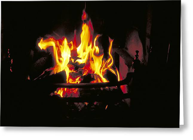 Peat Fire In Ireland Greeting Card by Carl Purcell