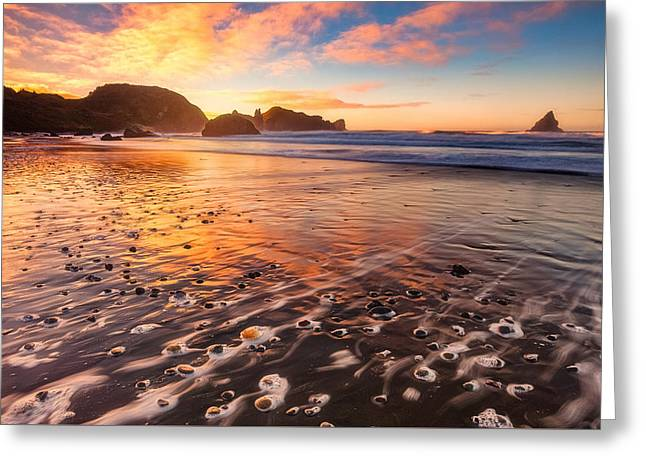Pebble Beach Greeting Card by Darren White