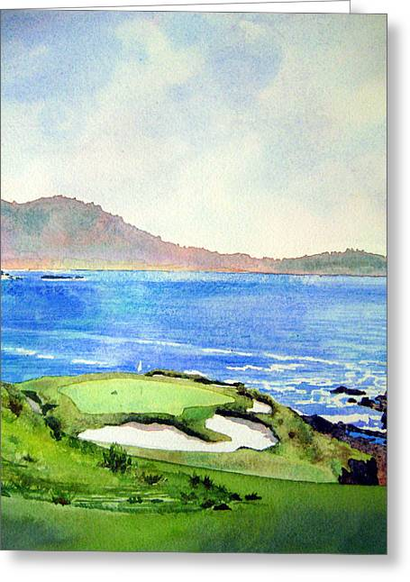 Pebble Beach Gc 7th Hole Greeting Card