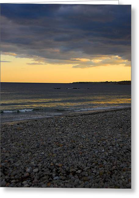 Pebble Beach Sunset Greeting Card