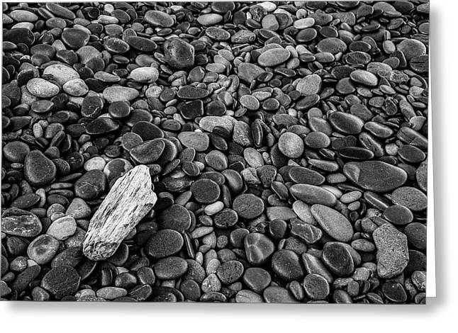 Pebbles And Rocks Greeting Card by Jon Glaser