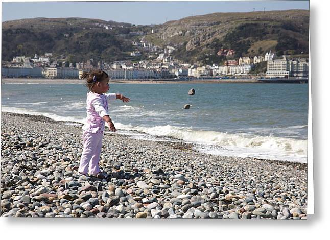 Throwing Stones Greeting Cards - Pebbles.  Greeting Card by Christopher Rowlands