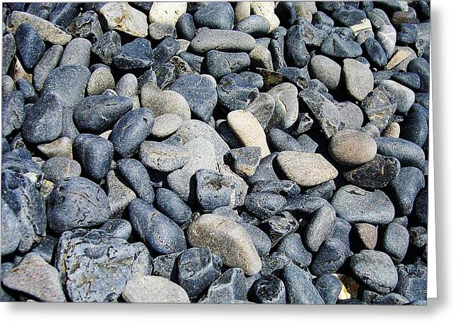 Pebbles Greeting Card by Jacqueline Doulis