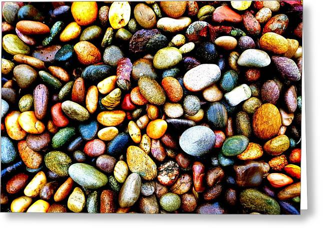 Pebbles On A Beach Greeting Card