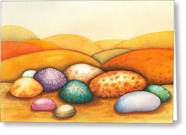 Pebbles Greeting Card by Sandra Moore