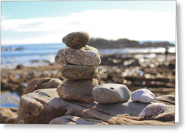 Peceful Zen Rocks Greeting Card