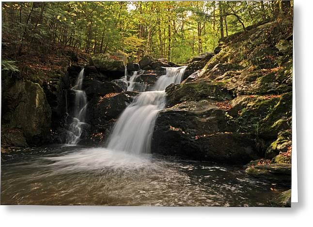 Pecks Falls Greeting Card by Mike Martin