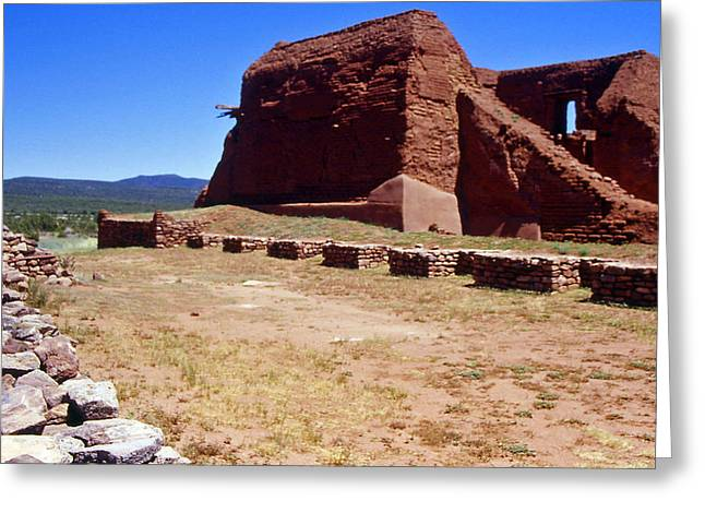 Pecos Mission New Mexico - 2 Greeting Card by Randy Muir