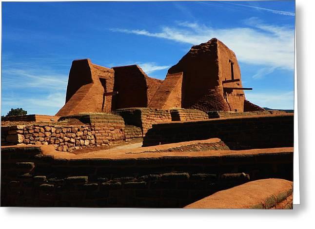 Pecos New Mexico Greeting Card by Joseph Frank Baraba