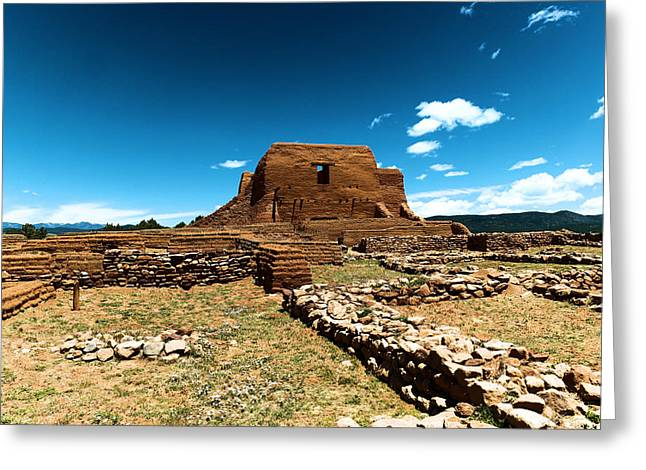 Pecos Ruins New Mexico Greeting Card by Jeff Swan