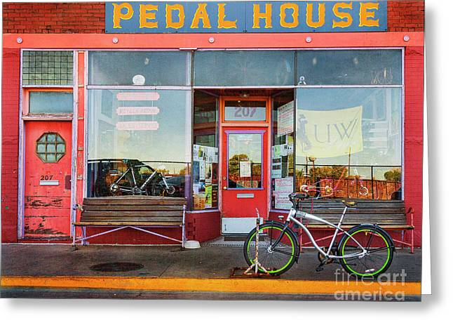 Greeting Card featuring the photograph Pedal House Of Laramie by Craig J Satterlee
