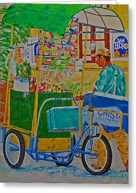 Peddling For Ones Visual Appetite Greeting Card
