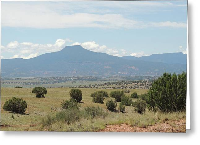 Greeting Card featuring the photograph Cerro Pedernal  by Gordon Beck