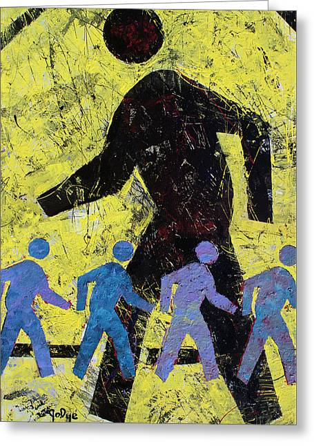 Pedestrian Crossing Greeting Card
