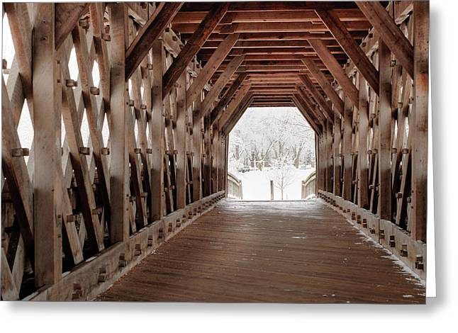 Pedestrian Lattice Bridge Greeting Card