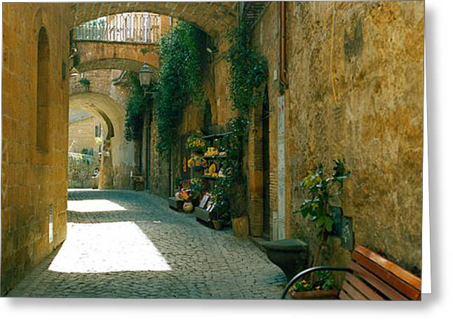 Pedestrian Walkway, Orvieto, Umbria Greeting Card by Panoramic Images