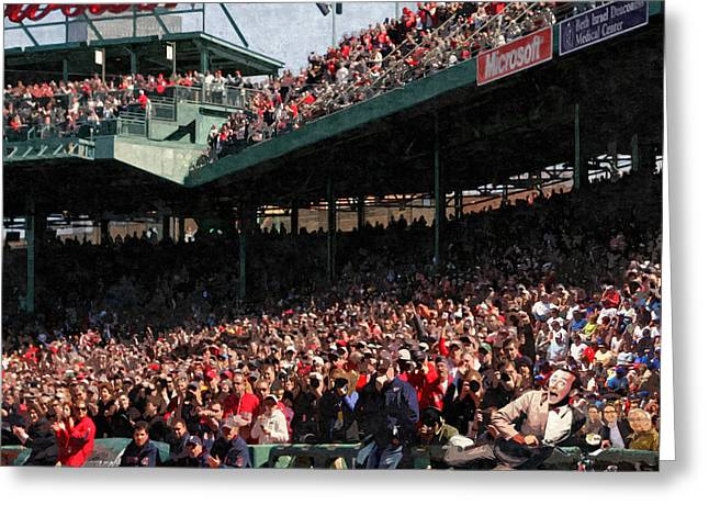 Pee Wee Does The Fenway Greeting Card by George Curcio