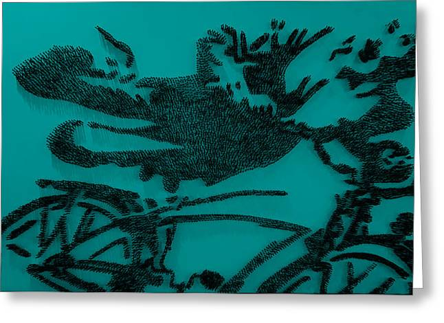 Pee Wee Herman Nailed Blue Greeting Card by Rob Hans