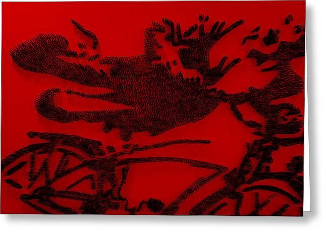 Pee Wee Herman Nailed Red Greeting Card by Rob Hans