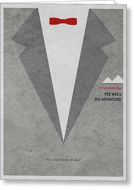 Greeting Card featuring the digital art Pee-wee's Big Adventure by Ayse Deniz