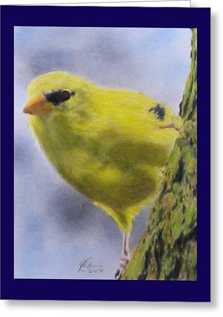 Peek A Boo Greeting Card by Angela Davies