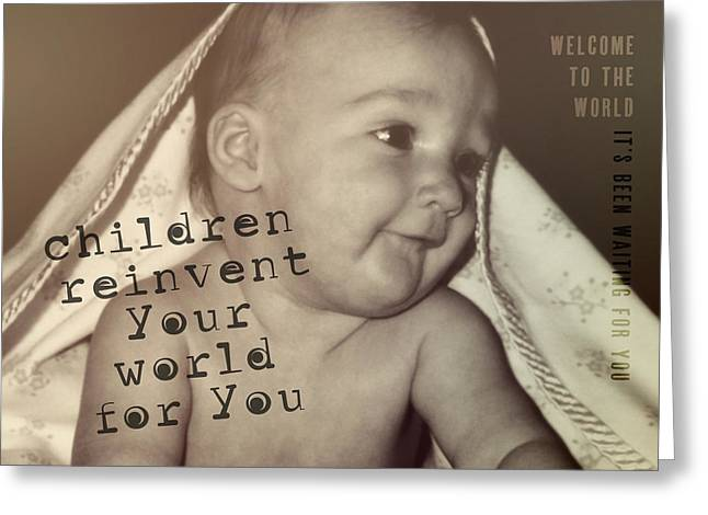 Peek A Boo Quote Greeting Card by JAMART Photography