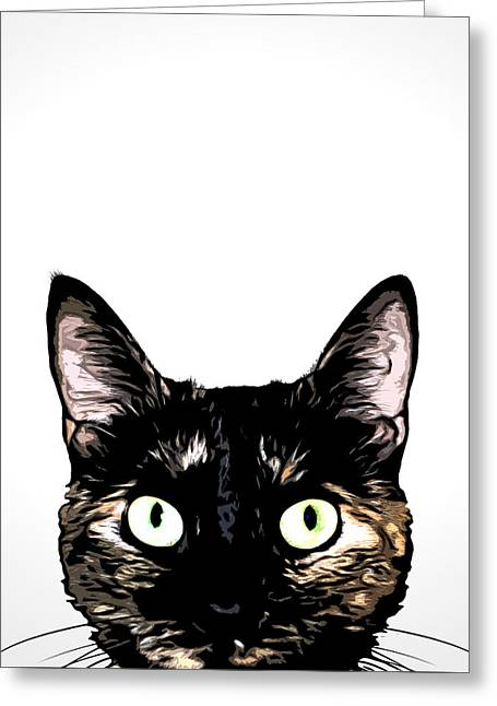Peeking Cat Greeting Card