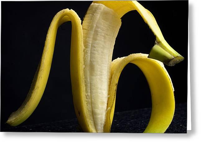 Banana Greeting Cards - Peeled banana. Greeting Card by Bernard Jaubert