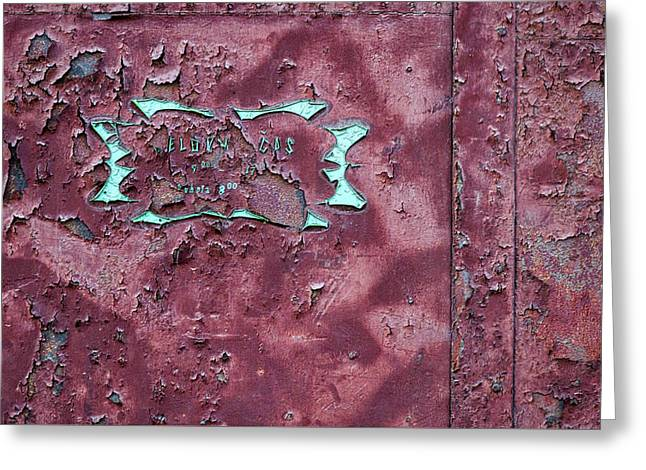 Greeting Card featuring the photograph Peeling Door Abstract by Stuart Litoff