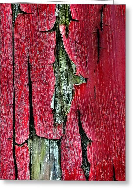 Peeling Paint Abstract Vertical Greeting Card