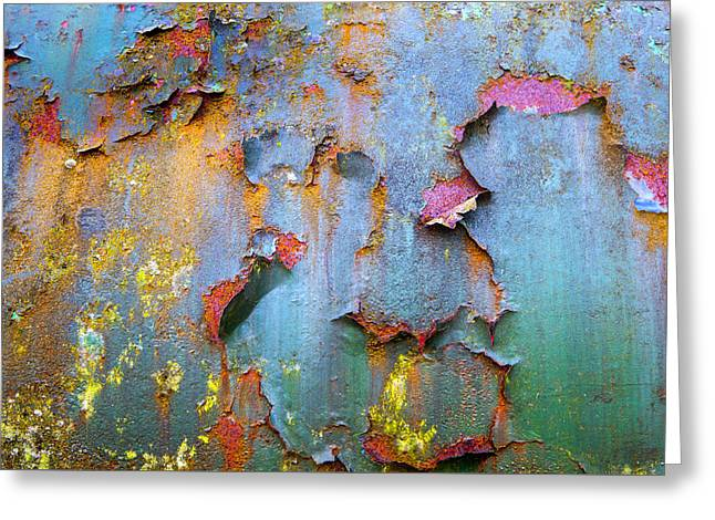 Peeling Paint And Rust Textures 135 Greeting Card