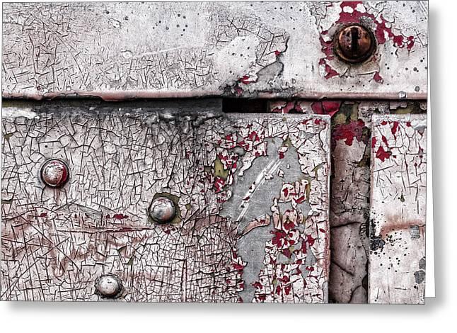 Peeling Paint On Metal Greeting Card by Carol Leigh