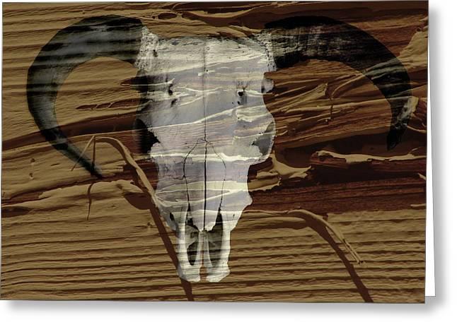 Peeling Skull Greeting Card by David Kehrli