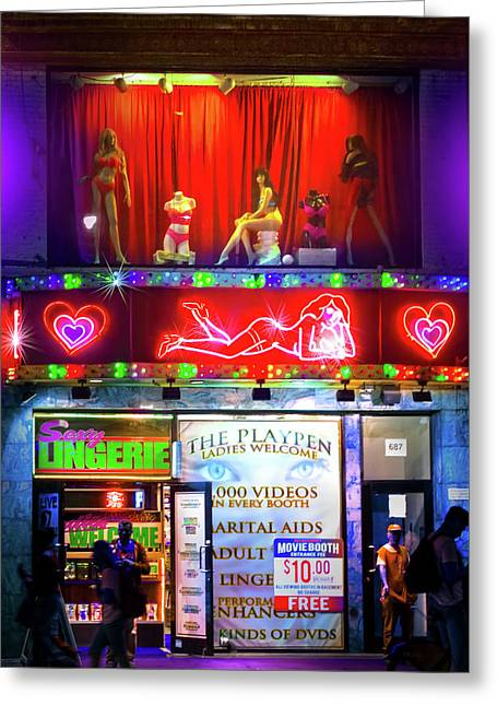Times Square Peep Show Greeting Card