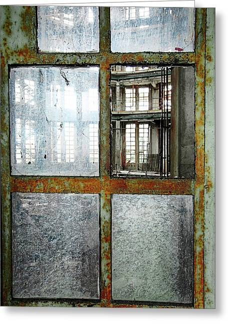 Peeping Inside Factory Hall - Urban Decay Greeting Card by Dirk Ercken