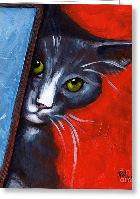 Peeping Tom Greeting Card by Pat Burns