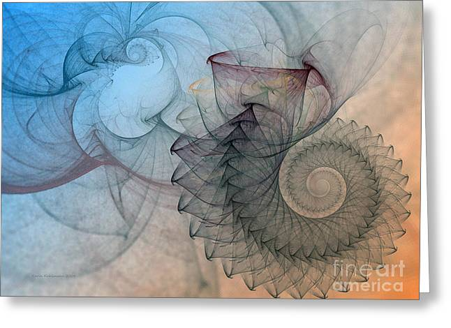 Pefect Spiral Greeting Card by Karin Kuhlmann