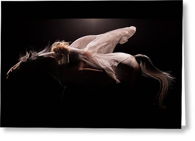 Greeting Card featuring the photograph Pegasus Full by Dario Infini