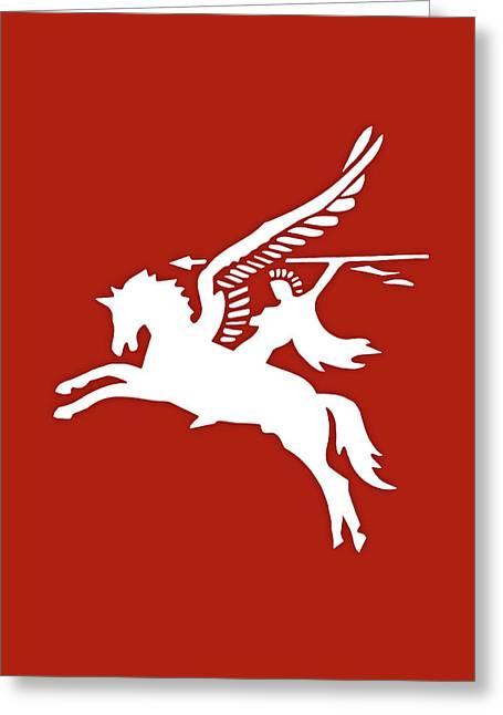 Pegasus In War Greeting Card by Kristin Elmquist