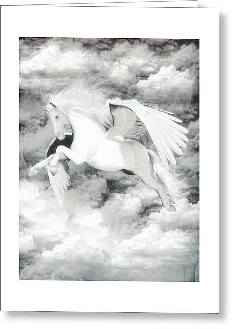 Pegasus Light  Greeting Card by Quim Abella