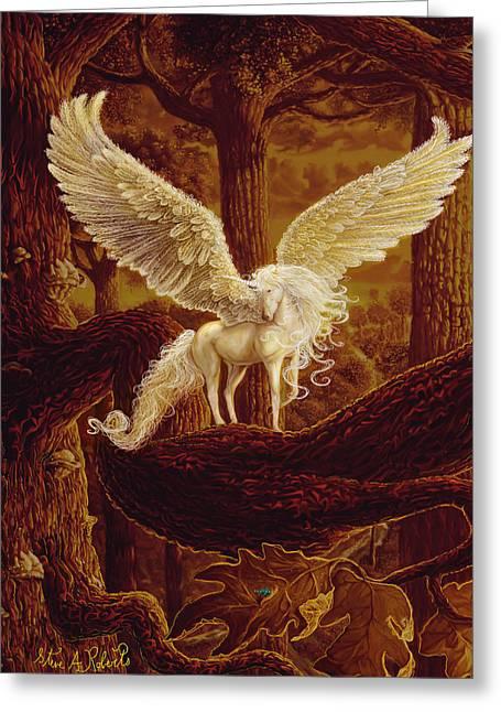 Steve Roberts Greeting Cards - Pegasus Greeting Card by Steve Roberts