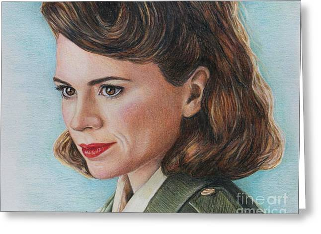 Peggy Carter / Hayley Atwell Greeting Card