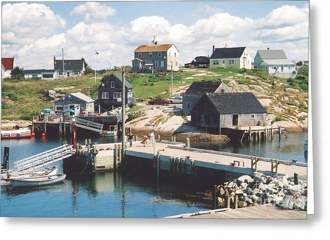 Peggy's Cove Greeting Card by Andrea Simon