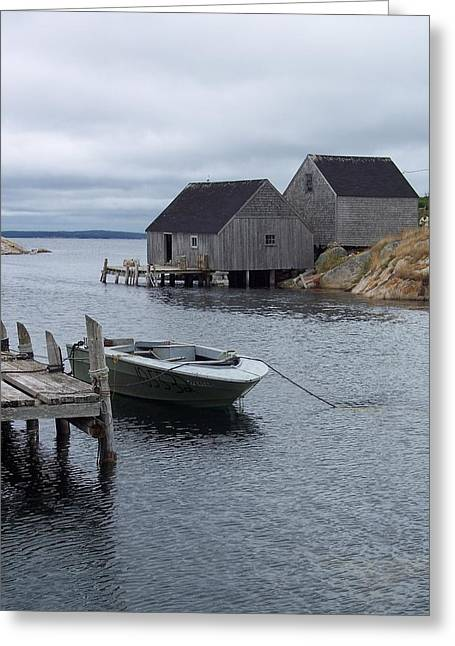 Greeting Card featuring the photograph Peggys Cove Canada by Richard Bryce and Family