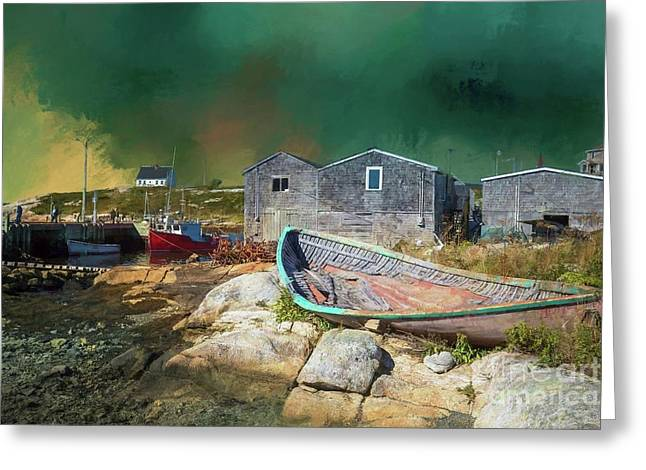 Peggy's Cove Greeting Card by Eva Lechner
